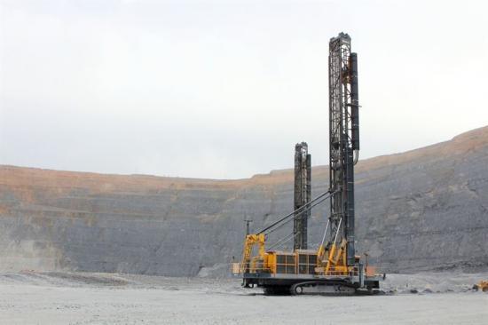 Epirocs Pit Viper 351, här vid en annan gruva, är del av maskinflottan som kommer att få full service vid Codelcos Andina-gruva.