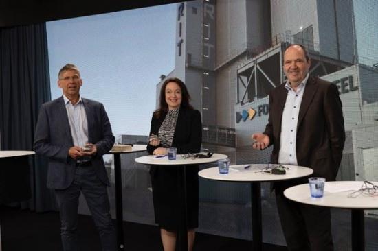 Jan Moström (LKAB), Anna Borg (Vattenfall) och Martin Lindqvist (SSAB)