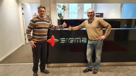 Jonas Örmin, sektionschef Produktionsutveckling och Joachim Jillehed, regionchef Norr.