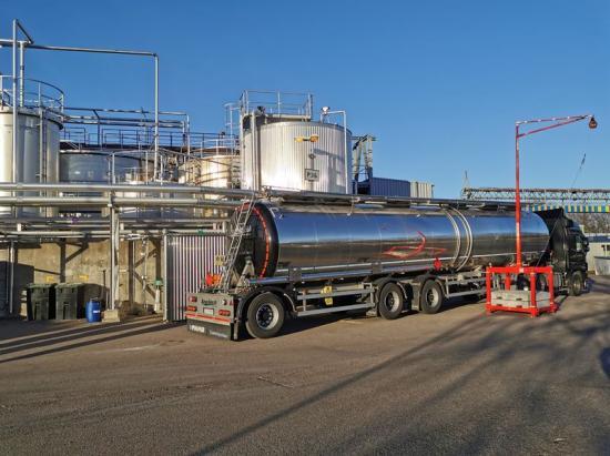 Lossning för produktion av desinfektionsmedel pågår vid Perstorps industrianläggning.