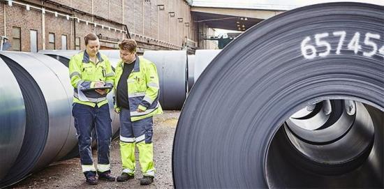Det går framåt för Svenskt stål.