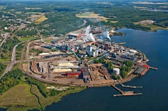 Världens modernaste pappersanläggningi Grums, Värmland.