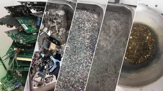 Från elektronikskrot till guld - ny unik teknik för lakning och separation av guld från både primärt material och elektronikskrot.