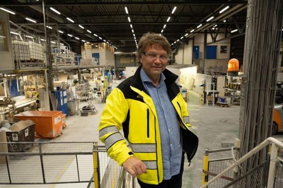 Bjørn Olsen fabrikschef Gyproc Fredrikstad.