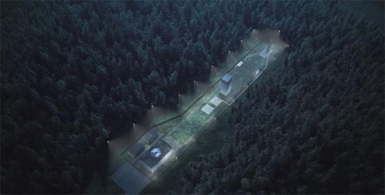 Esrange Space Center, sett från ovan.