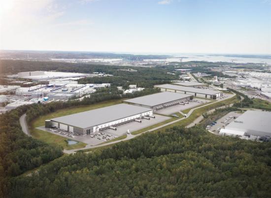 Visionsbild Sörreds Logistikpark, fastighet Sörred 7:21 (bilden är en illustration).