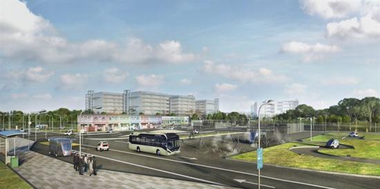Volvo ska testa självkörande bussar vid Singapores nyatestalänggning för autonoma fordon.