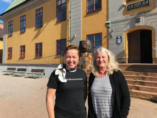 Sofia Möller Skog, Folkuniversitetet Dalarna, och Lena Grönlund Myrberg, Falu Gruva, ser fram emot Kulturarvsdagarna i Falun.