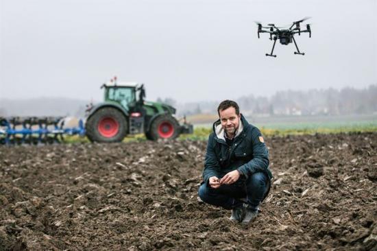 Jonas Engström är projektledare för RISE testbädd för digitaliserat jordbruk.