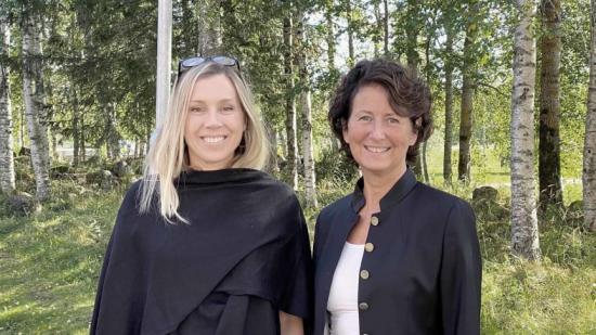 Jenny Greberg, generaldirektör Swedish Mining Innovation, och Gry Holmgren Hafskjold, VD LTU Business.