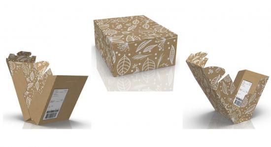 I samma låda som produkten skickades. Man vänder den ut och in – viker åt andra hållet – packar och skickar. Med returadressen på plats. Allt klart på ett par minuter.