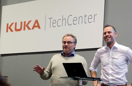Patrik Moberg från Siemens AB tillsammans med Lars Cardemar från KUKA Nordic AB.