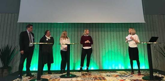 <span>Förra årets programkonferens: Martin Jonsson (Gestamp), Annika Borgenstam (KTH), Margareta Groth (Vinnova), Jennica Broman (Novigi) och Anna-Karin Nyman (Jernkontoret).</span>