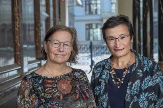 Professor Kerstin Sahlin, styrelseordförande i WASP-HS och professor Virginia Dignum, WASP-HS vetenskapliga ledare.