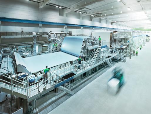 Pappersmaskinen PM3 på Dr. Franz Feurstein i Österrike.