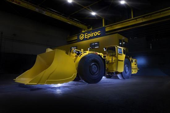 En tidigare dieseldriven Epiroc Scooptram ST1030 lastare konverterad av FVT Research till batterielektrisk.