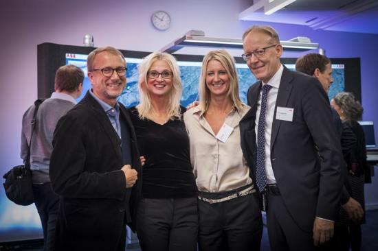 Fr v: ABB:s Chief Digital Officer Guido Jouret tillsammans med Lena Stridsman, Digital Lead för ABB Sverige, Åsa Ekblad, ansvarig för ABB Ability™ Center i Västerås och Johan Söderström, vd för ABB Sverige under invigningen av ABB Ability™ Center den 2 oktober 2018.