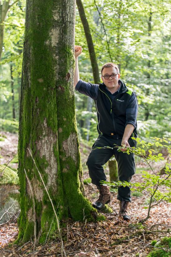 Fredrik Broberg, skogskonsulent på Skogsstyrelsen i Skåne.