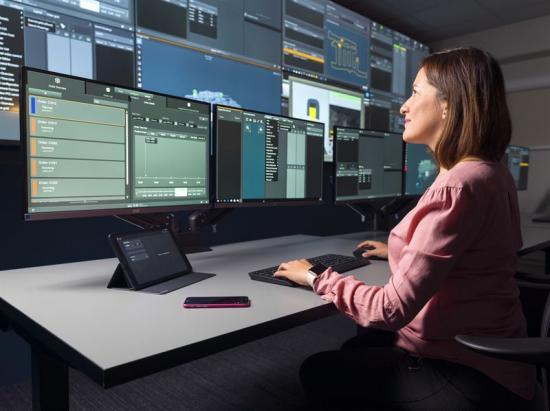 Vid Epirocs kontrolltorn i Örebro kan kunder utforska och utveckla effektiva lösningar inom automation och informationshantering för sin gruvverksamhet.