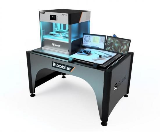<span><span>Biopixlar® är en komplett plattformslösning, vars högupplösta bioprinter-koncept fångas upp väl av instrumentets utformning och design. </span></span>