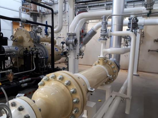 AGAs nya kvävgaskompressor i Stenungsund.