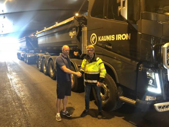 Thomas Andersson säljchef Skoogs Bränsle, Peter Bohm VD Malmtransporter Norr AB.