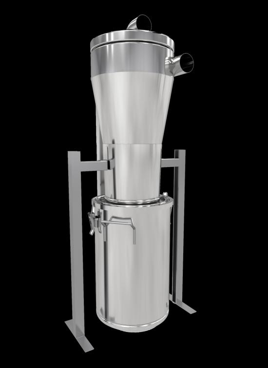 Systemets föravskiljare gör det även möjligt för livsmedelsproducenter att återanvända material som sorterats ut, exempelvis gryn, mjöl, kryddor eller andra torrvaror