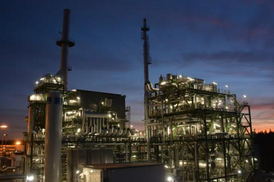 AGAs nya vätgasanläggning i finska Borgå - AGAs bildarkiv