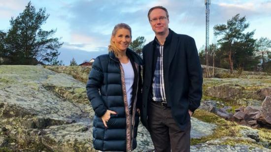 Mia Åslander, vd Gibon Sverige och Niklas Andersson, vd på Valvea.