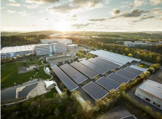 ABBs CO2-neutrala fabrik i Lüdenscheid.