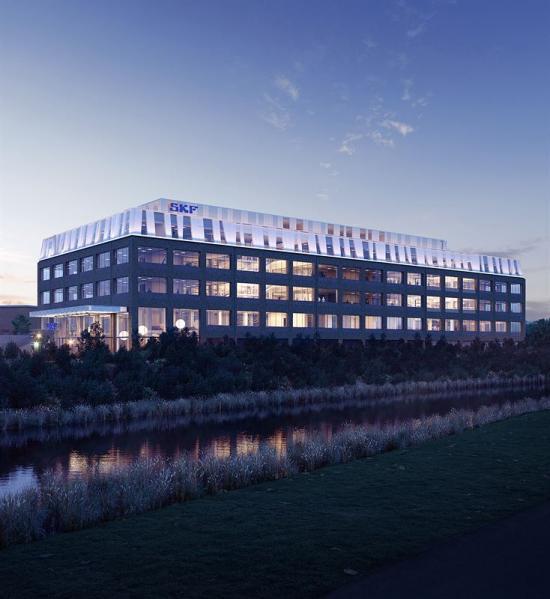 Skissbild av nya huvudkontoret som står klart för inflyttning sommaren 2020.