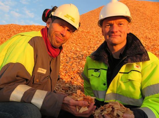 Fr v Stefan Neijman, projektledare och Ronny Sjöberg, chef Anläggning & Investeringar.