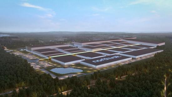 Den framtida battericellsfabriken Northvolt Ett i Skellefteå (bilden är en illustration).