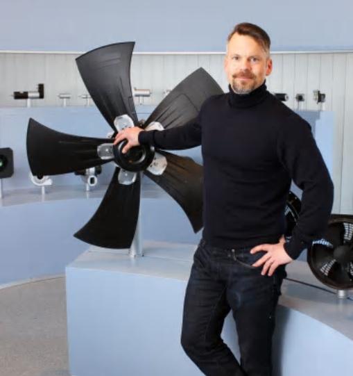 Stefan Ruuth, försäljningschef på ebm-papst OEM-avdelning.