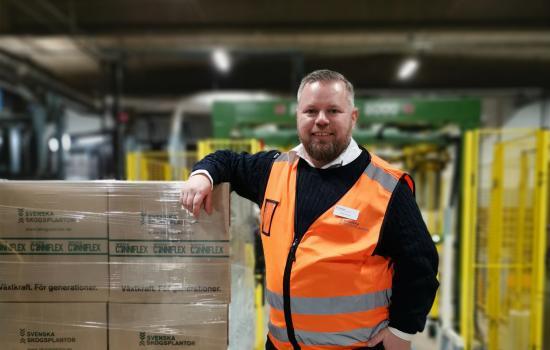 Niclas Noord, teknisk chef på Svenska Skogsplantor.