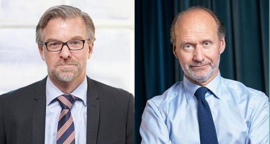 Per Hidesten vd för Industriarbetsgivarna och Jonas Hagelqvist, vd IKEM ‒ Innovations- och kemiindustrierna.
