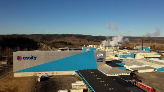 Essitys produktionsanläggning för tissue i Lilla Edet.