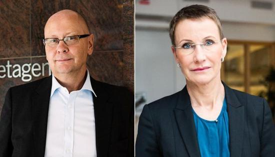 Klas Wåhlberg, vd Teknikföretagen, och Pia Sandvik, vd RISE.