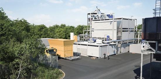 WoodRoll-anläggningningen för förnybar energigas och biokoks i Höganäs invigs 19 juni 2018.