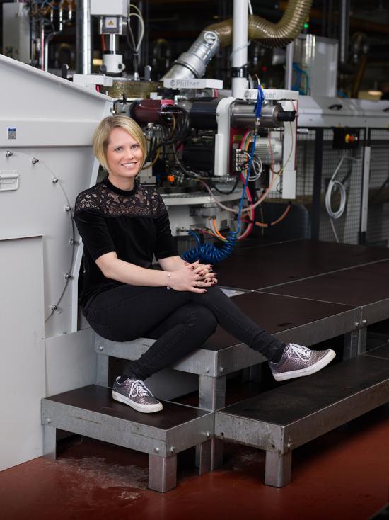 Linda Fransson, vd på Gnosjö Automatsvarvning.