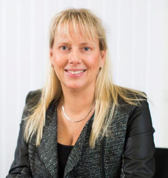 Åsa Thegström, chef för affärsenheten Training & Simulation inom Saabs affärsområde Dynamics.