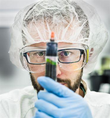 Gábor Méhes, forskare vid Laboratoriet för organisk elektronik.