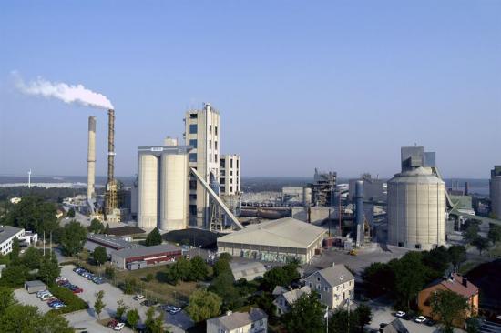 Cementas anläggning i Slite på Gotland.