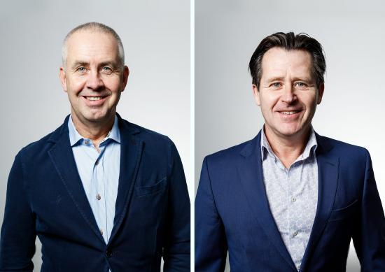 OCS vd och andre delägare Kenth Almqvist och Christer Lundgren, delägare och försäljningsansvarig på OCS.