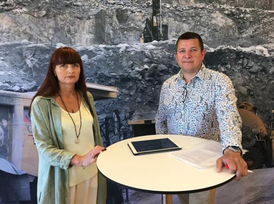 Marie Nilsson, IF Metalls förbundsordförande, och Veli-Pekka Säikkälä, IF Metalls avtalssekreterare.