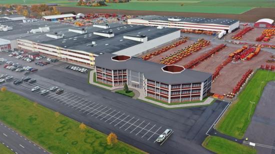 Väderstad nya fabrikscenter ska stå klart 2022 (bilden är en illustration).