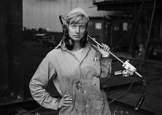 Bilde från utställningen Svärta – svenska fotografer i den tunga industrin 1968–74.