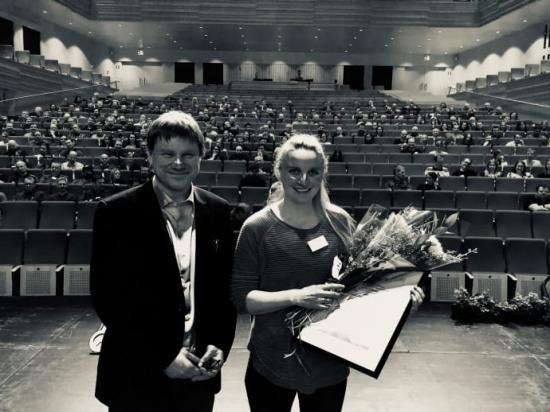Pristagare. Jennifer Andersson och Jonas Fjellner, båda från avdelningen kross och infrakt på Boliden Aitik, tog på onsdagen emot Svemins Arbetsmiljöpris 2020 i Luleå.