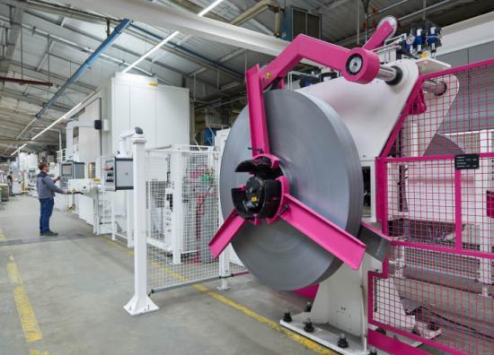 Den nya Rittal produktionsanläggningen kommer när den står klar 2020 att ha tre profileringssystem, vardera 70 meter långa.
