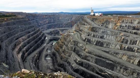 Bolidens koppargruva i Aitik.